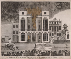A front view of the Theatre in Birmingham on Fire